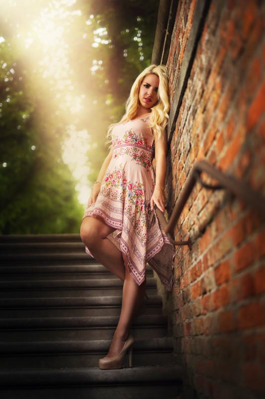 Streetstyle auf der Treppe