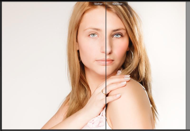 Vorschau Lightroom Beauty Pinsel Vorgaben