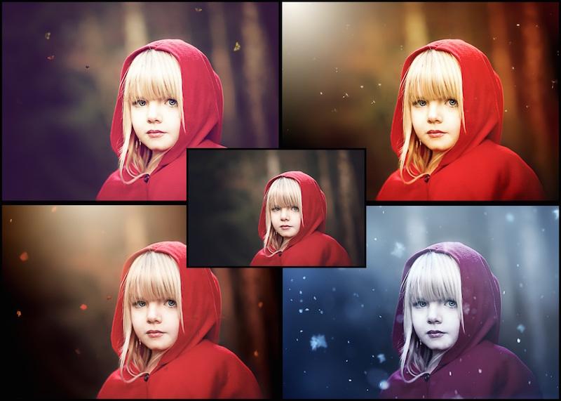 Vorschau Photoshop Set 4 Seasons Komplett Bundle