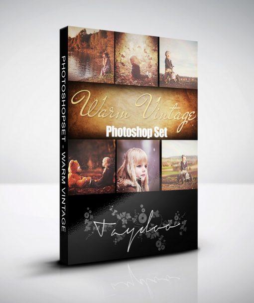 Produktbox Photoshop Set Warm Vintage