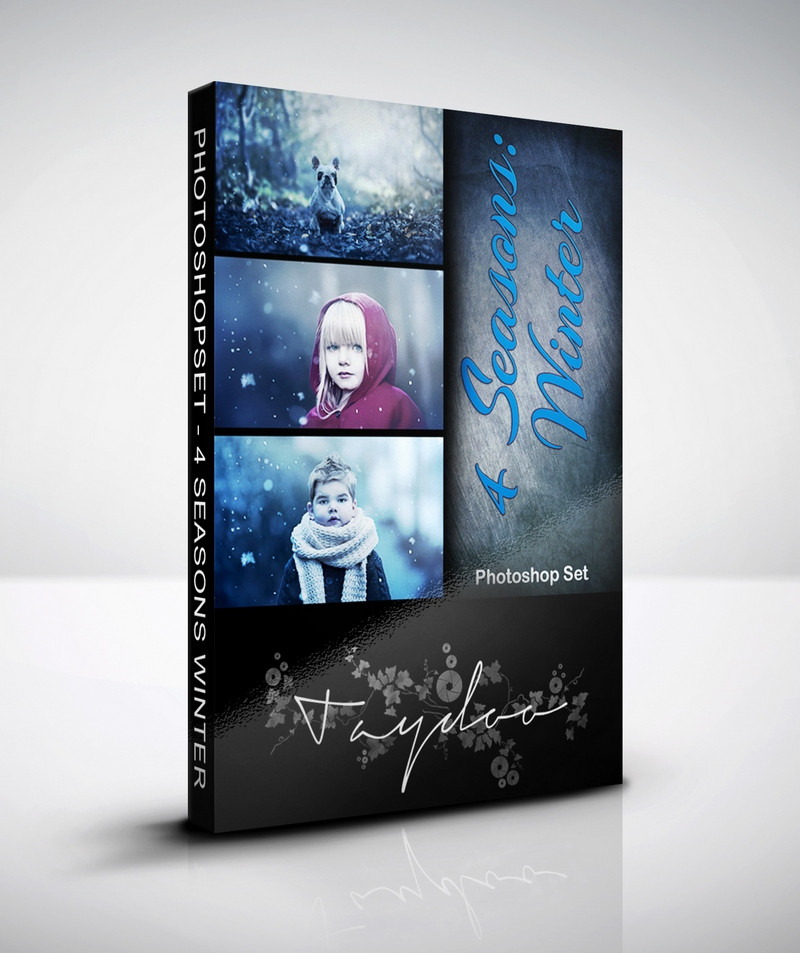 Produktbox Photoshop Set Winter – 4 Seasons