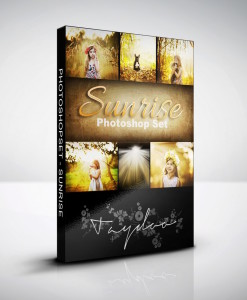 Produktbox Photoshop Set Sunrise
