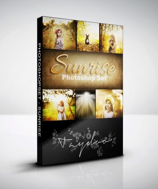 Produktbox Photoshop Set Sunrise