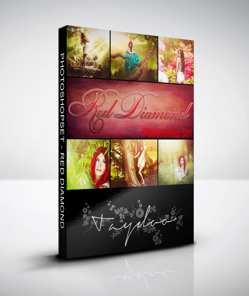 Produktbox Photoshop Set – Red Diamond