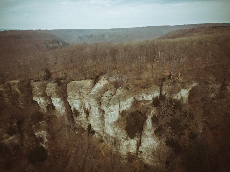 Luftaufnahmen von den Hohensteiner Klippen