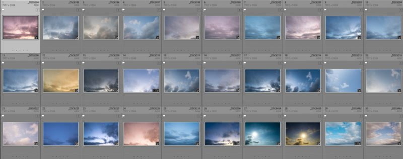 Wondersky Wolken Collage