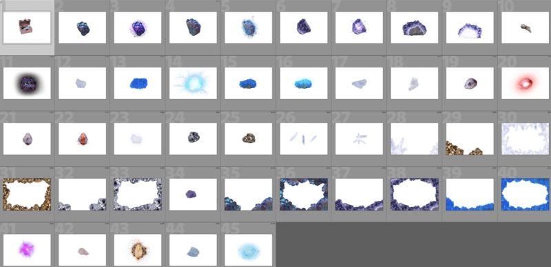 crystals-kollage